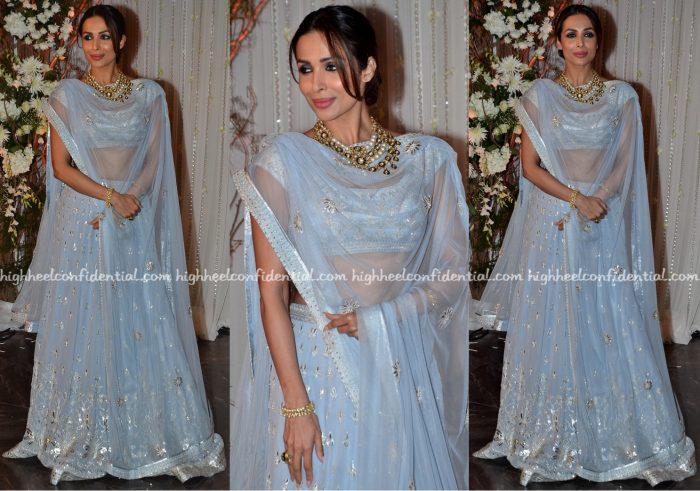 malaika arora khan At Bipasha Basu-Karan Singh Grover Wedding Reception-1