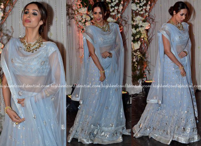 malaika arora khan At Bipasha Basu-Karan Singh Grover Wedding Reception-2