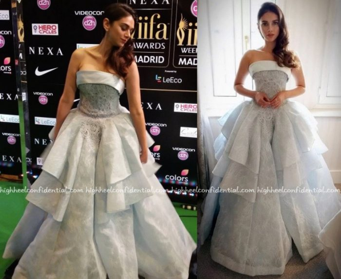 Aditi Rao Hydari Wears Saiid Kobeisy To IIFA Rocks 2016, Madrid