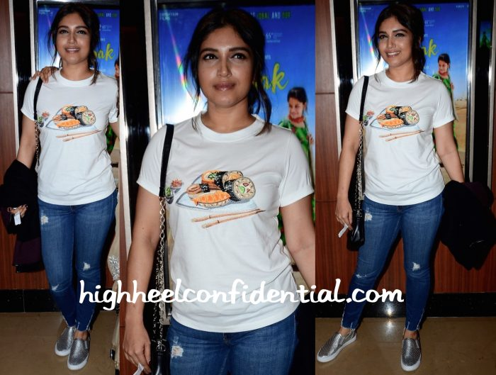Bhumi Pednekar Wears Punarvi To Dhanak Screening