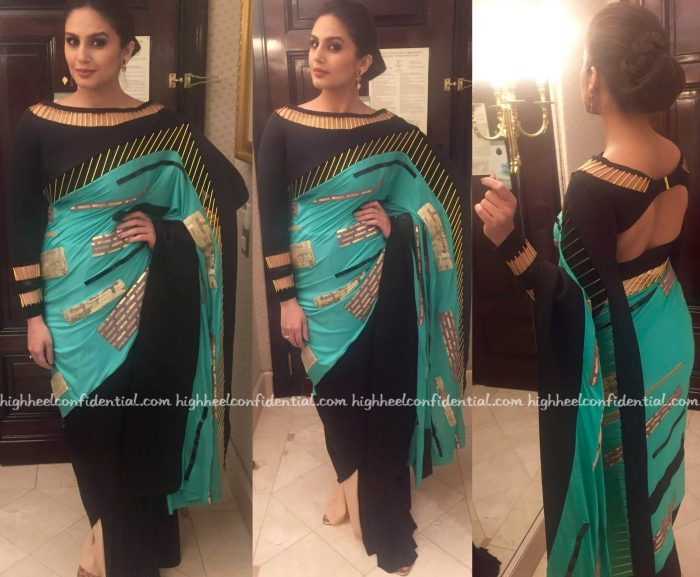 Huma Qureshi In Shivan Narresh At IIFA Rocks 2016