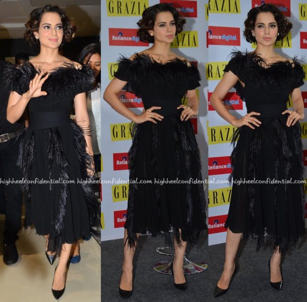 Kangana Ranaut Wears Ferragamo To Grazia's Latest Issue Launch:Unveiling-2