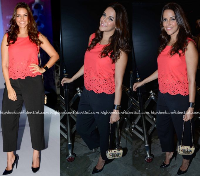 Neha Dhupia In Marie Claire At The Brand's Collection Launch
