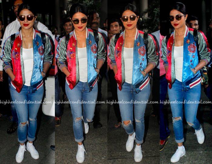 Priyanka Chopra In Diesel At Mumbai Airport