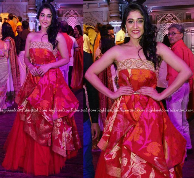 Regina Cassandra In Shravan Kumar At The Designer's Fashion Show In Hyderabad-1
