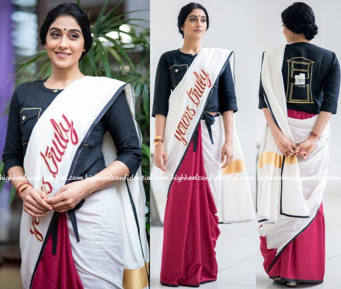 Regina Cassandra Wears Rouka By Sreejith Jeevan To Cancer Survivor Event At Apollo-2