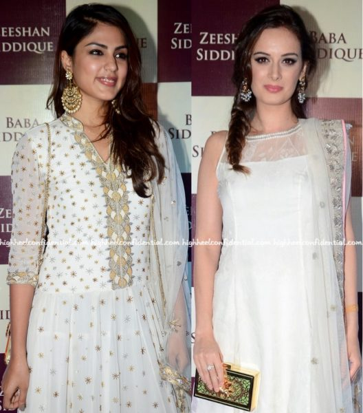Rhea Chakraborty And Evelyn Sharma At Baba Siddique's Iftar Party-2