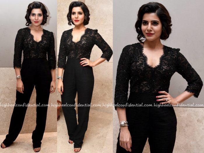 Samantha Ruth Prabhu In Shriya Som At 'A Aa' Success Meet-1
