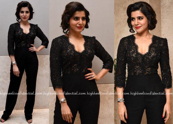 Samantha Ruth Prabhu In Shriya Som At 'A Aa' Success Meet-2