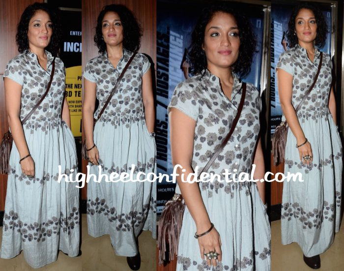 Sandhya Mridul Wears Anavila To Dhanak Screening