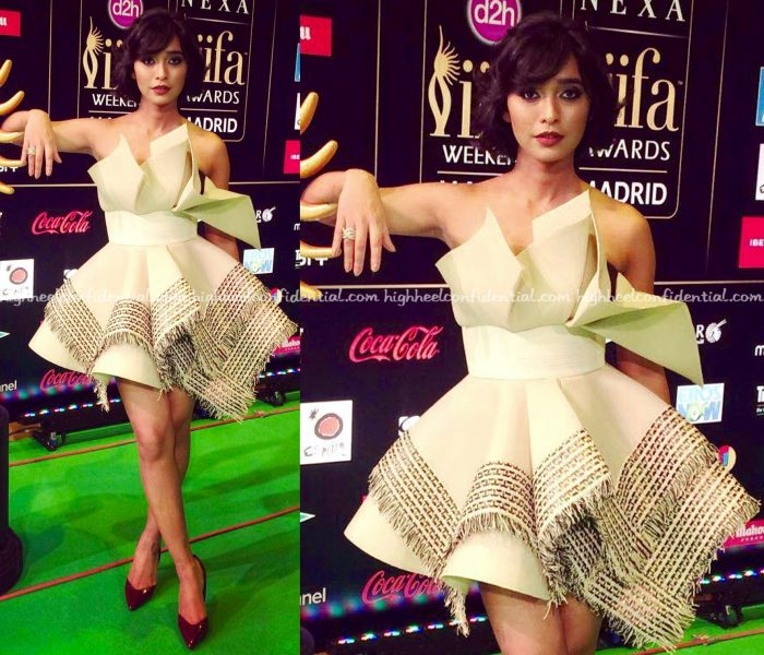 Sayani Gupta Wears Amit Aggarwal And LaBourjoisie To IIFA 2016, Madrid-1