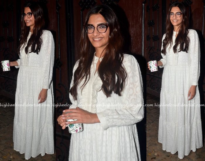 Sonam Kapoor Photographed In A Bungalow 8 Dress On Her Birthday-1