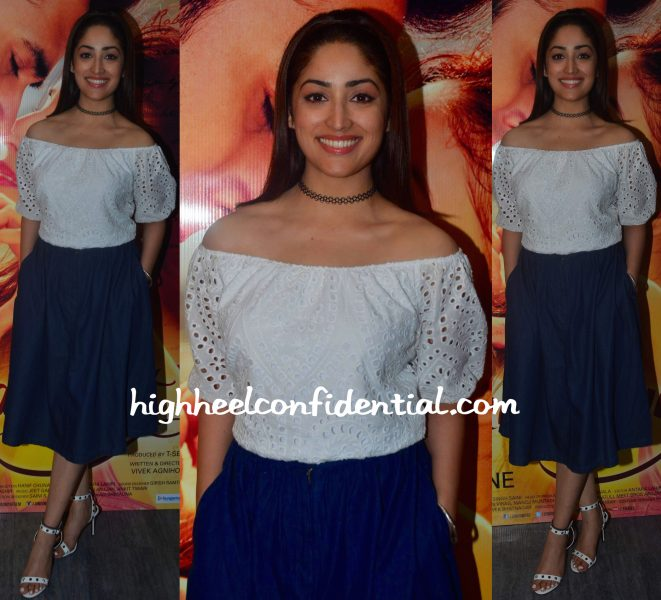 Yami Gautam In Bhane At Junooniyat Promotions