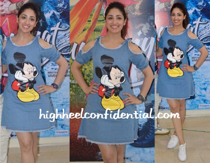 Yami Gautam Wears Madison To Junooniyat Promotions