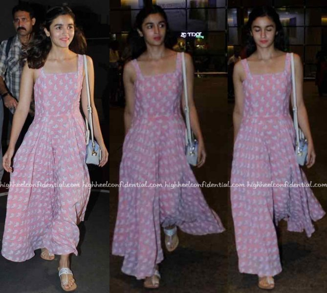 Alia Bhatt (In Anita Dongre Grassroot) Photographed At The Airport-2