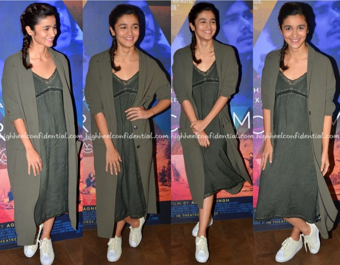 Alia Bhatt In Zara At 'M Cream' Movie Screening