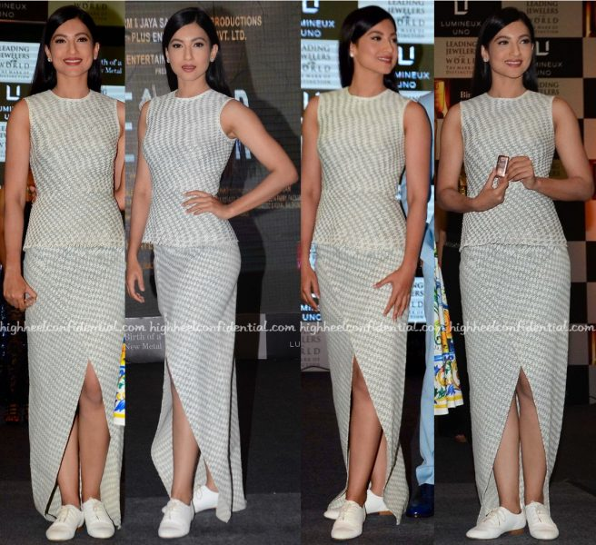 Gauahar Khan In Geisha Designs And Zara At 'Fever' Promotions