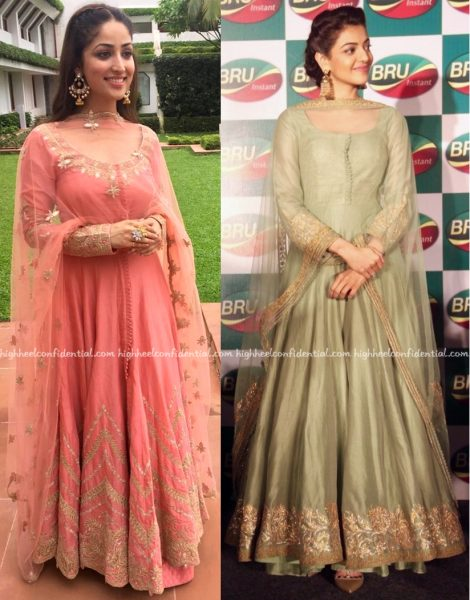 In Rimple And Harpreet Narula- Kajal Aggarwal At An Event For Bru And Yami Gautam At PC Jewellers Store Launch-1