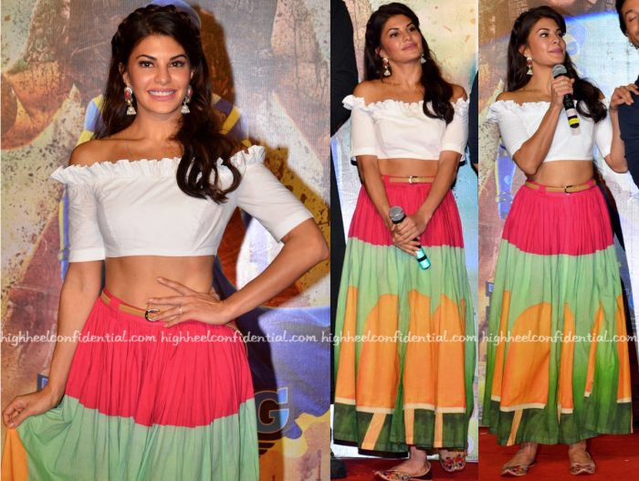 Jacqueline Fernandez Wears Masaba To 'A Flying Jatt' Trailer Launch-2