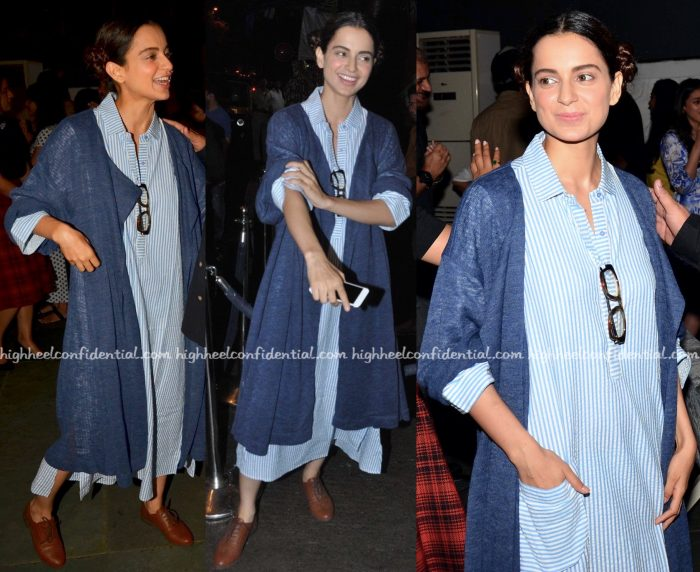 Kangana Ranaut In Bungalow 8 At Anand Rai's Birthday Do