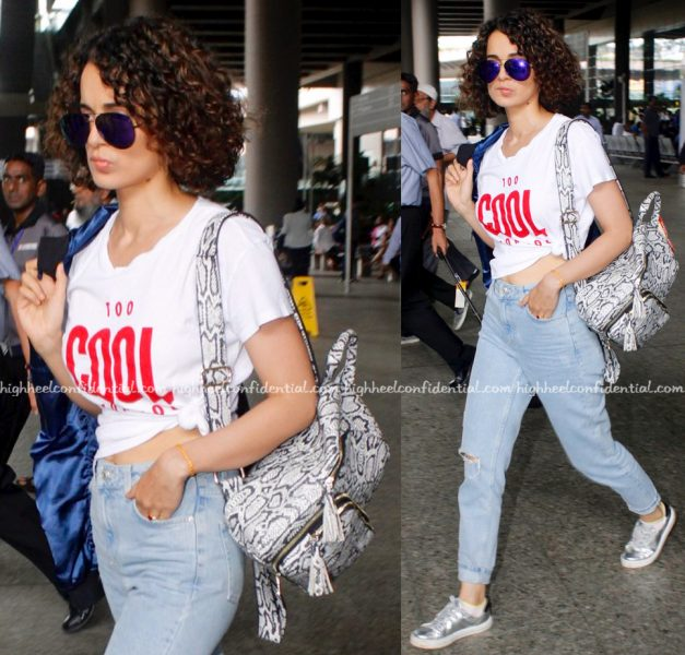 Kangana Ranaut Photographed At Mumbai Airport