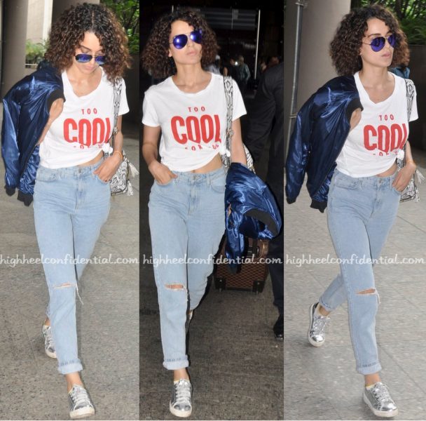 Kangana Ranaut Photographed At Mumbai Airport In Zara