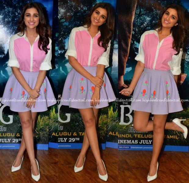 Parineeti Chopra Wears Zara And ASOS To The BFG Promotions-1