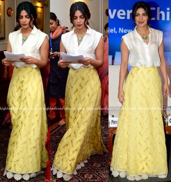 Priyanka Chopra In Payal Khandwala And Jade By Monica And Karishma At Unicef Event-1