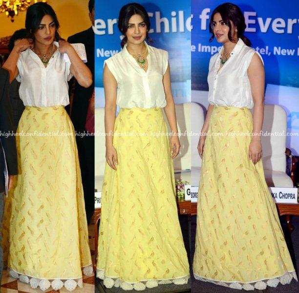 Priyanka Chopra In Payal Khandwala And Jade By Monica And Karishma At Unicef Event-2