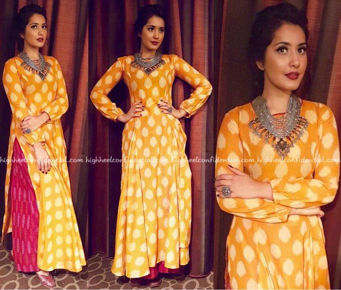 Raashi Khanna Wears Preetham Jukalker To ATA Event, Chicago-1