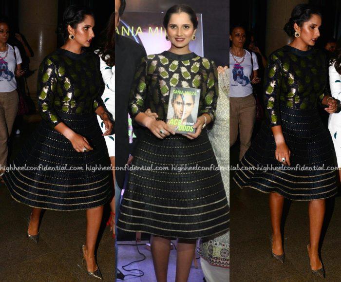 Sania Mirza Wears Rinku Sobti To Her Book Launch In Delhi-2