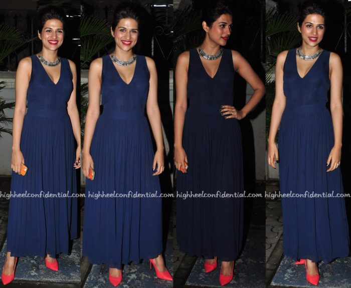 Shraddha Das Wears Marks And Spencer To 'Great Grand Masti' Screening