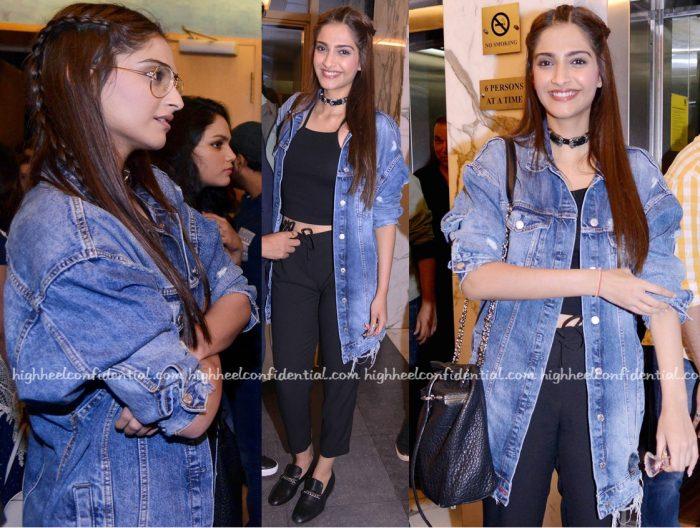 Sonam Kapoor In Zara At Dishoom Screening