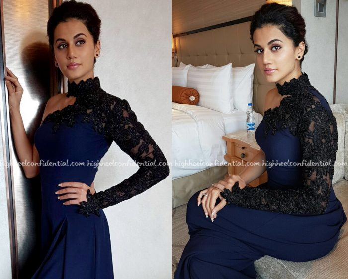 Taapsee Pannu In Mayyur Girotra At Miss Diva Universe Pageant, Bangalore Round-2