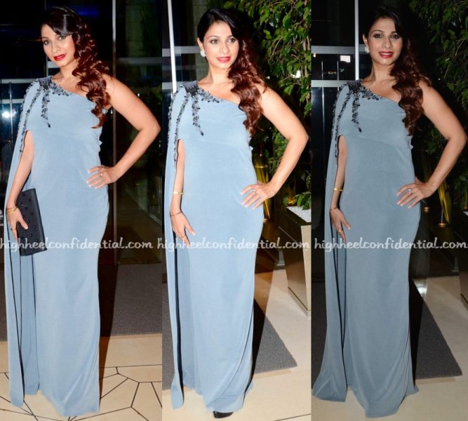 Tanishaa Mukerji Wears Disha Nimi To The Launch Party Of Her NGO 'Stamp'