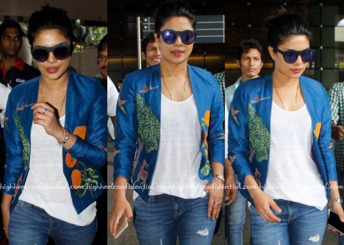 Travel(v)ogue- Priyanka Chopra Photographed In Vineet Rahul At The Airport-2