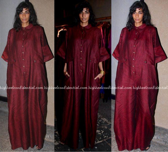 Anushka Manchanda Wears Chola To Ensemble Store Launch