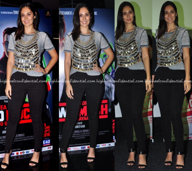 Bruna Abdullah Wears Simply Simone To 'Yea Toh Two Much Ho Gayaa' Trailer Launch