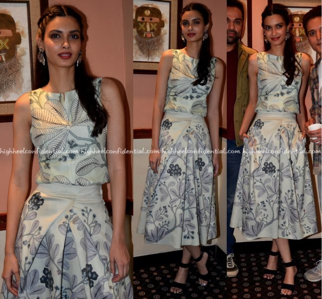 Diana Penty Wears AM-PM by Ankur and Priyanka Modi To 'Happy Bhag Jayegi' Promotions-2