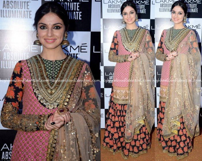 Divya Khosla Kumar Attends Sabyasachi's Show At Lakme Fashion Week Winter:Festive 2016