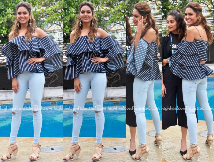 Esha Gupta Wears Madison To Rustom Promotions-1