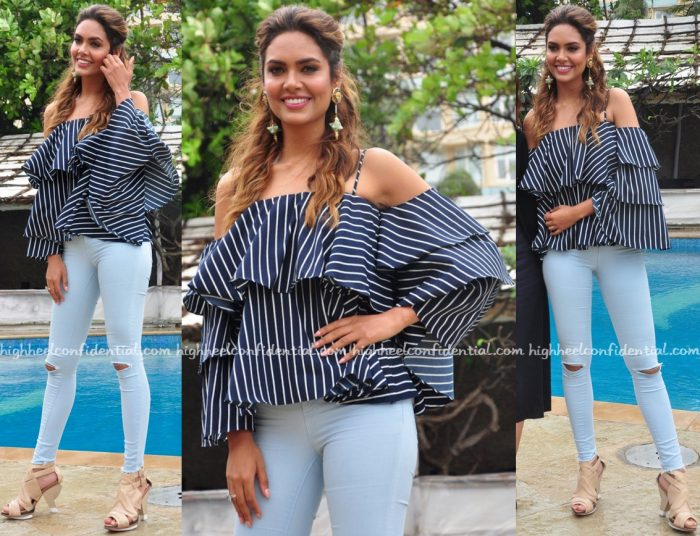 Esha Gupta Wears Madison To Rustom Promotions-2