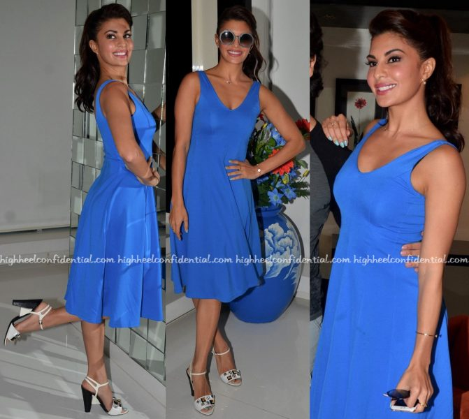 Jacqueline Fernandez Wears H&M And Madison To 'A Flying Jatt' Promotions-1