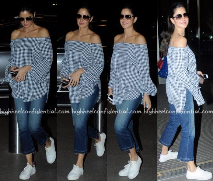 Katrina Kaif Photographed In Tibi At Mumbai Airport