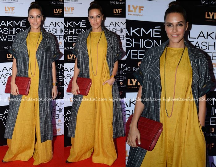 Neha Dhupia Photographed In Chola By Sohaya And Payal Khandwala On Day One Of Lakme Fashion Week A:W 2016-1