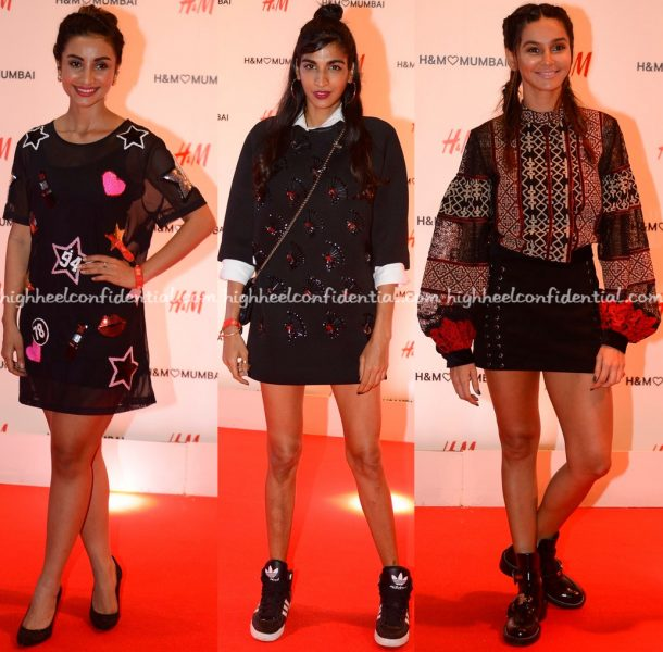 Patralekhaa, Anushka Manchanda And Shibani Dandekar At H&M Mumbai Launch-1