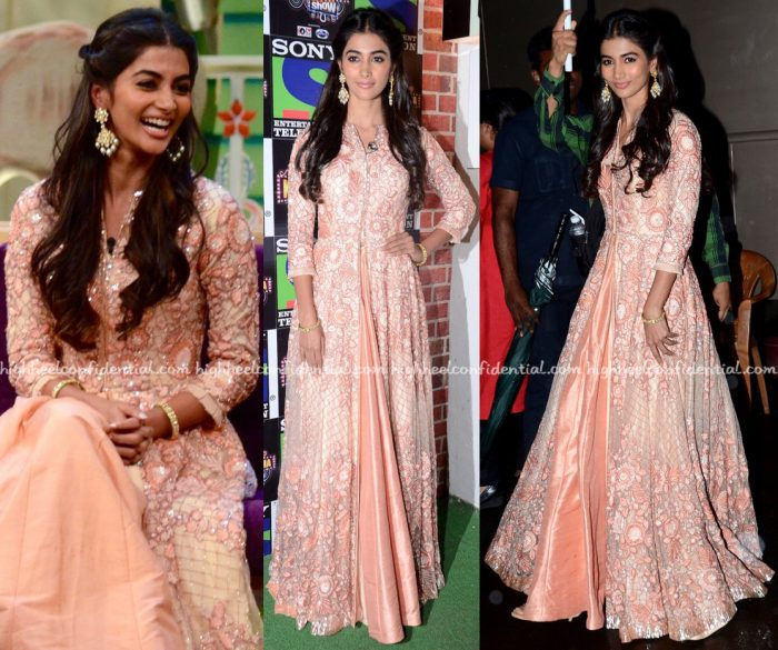 Pooja Hegde Wears Manish Malhotra To 'The Kapil Sharma Show' Sets For Mohenjo Daro Promotions-1