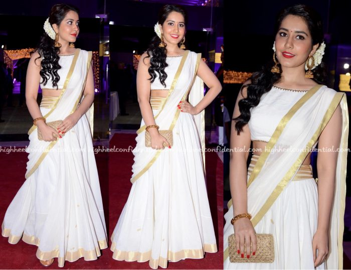 Raashi Khanna Wears Shilpa Reddy To DVV Danayya Daughter Wedding