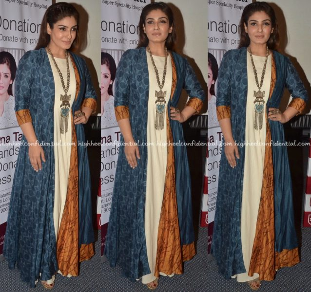 Raveena Tandon Wears Labe Anushree To An Organ Donation Awareness Event-1