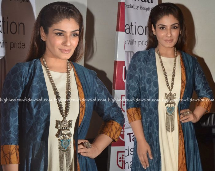 Raveena Tandon Wears Labe Anushree To An Organ Donation Awareness Event-2